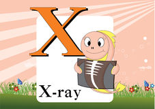 Alfabet-x Royalty-vrije Illustratie