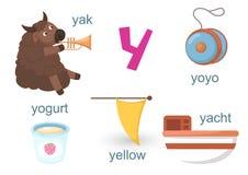 Alfabet Y royaltyfri illustrationer