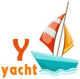 alfabet Y met jacht Royalty-vrije Stock Afbeeldingen