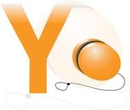 Alfabet y voor jojo Royalty-vrije Stock Foto's