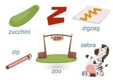 Alfabet Z Royalty-vrije Stock Afbeeldingen