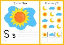 Alfabet A-Z Tracing en raadselaantekenvel, Oefeningen voor jonge geitjes - illustratie en vector stock illustratie