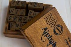 Alfabetask arkivfoton