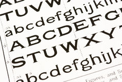 alfabetbakgrund Arkivfoto