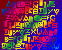 alfabetbakgrund Royaltyfria Foton