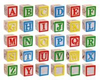 alfabetbakgrundsblock isolerade white Arkivbilder