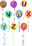 alfabetballong eps s vektor illustrationer