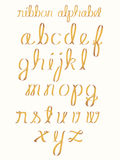 alfabetband Arkivfoton