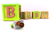 alfabetblock Arkivfoton