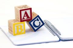 alfabetblock Arkivfoto