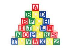 alfabetblock Royaltyfria Foton