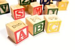 alfabetblock som lärer Royaltyfria Foton