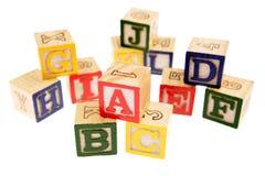 alfabetblock som lärer Royaltyfria Bilder