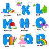alfabetbokstäver royaltyfri illustrationer