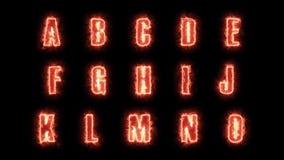 alfabetbokstäver för bränning 4k packar