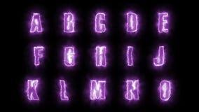 alfabetbokstäver för 4k halloween packar