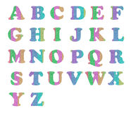 alfabetbokstav Arkivfoto