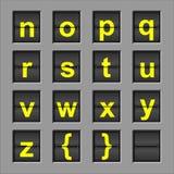 alfabetbrädeflip Arkivbild
