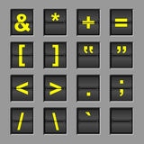 alfabetbrädeflip Fotografering för Bildbyråer