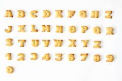 alfabetbröd Fotografering för Bildbyråer