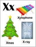 Alfabetbrief X beelden royalty-vrije illustratie
