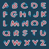 Alfabetbrieven met gevouwen hoek Royalty-vrije Illustratie