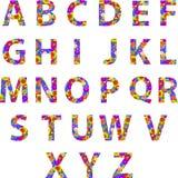 Alfabetbrieven met Retro Discocirkels Stock Fotografie