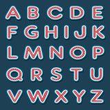 Alfabetbrieven met witte gloeilamp Royalty-vrije Illustratie