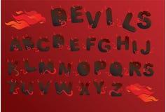 alfabetdemonbokstäver Royaltyfri Foto