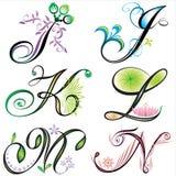 alfabetdesignelement s Fotografering för Bildbyråer