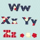 alfabetelement som scrapbooking vektorn sjaskig stil sömlös provkarta Royaltyfri Foto
