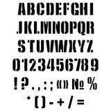 Alfabetengelska i form av en stencil Fotografering för Bildbyråer