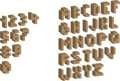 alfabetet 3d numrerar PIXELet Arkivfoto