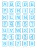 alfabetet behandla som ett barn block Royaltyfri Fotografi