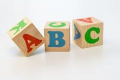 Alfabetet blockerar abc:et Arkivbilder