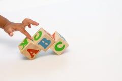 Alfabetet blockerar abc:et Arkivbild