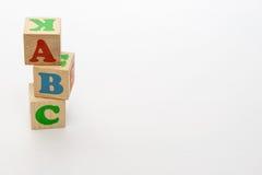 Alfabetet blockerar abc:et Arkivfoto