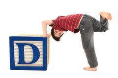 alfabetet blockerar D-bokstaven Arkivfoto