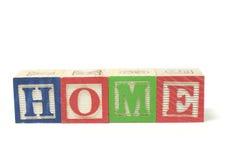 alfabetet blockerar home Royaltyfri Bild