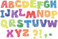 alfabetet klottrar skissar Arkivfoto