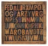 alfabetet letters på måfå Arkivbilder