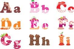 alfabetet letters sötsaken royaltyfri illustrationer