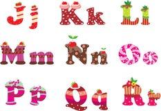 alfabetet letters sötsaken vektor illustrationer