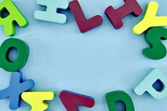 alfabetet letters trä Royaltyfri Bild