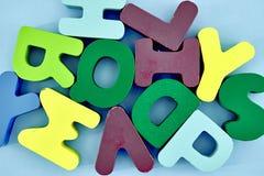 alfabetet letters trä Arkivfoton
