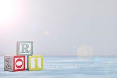 alfabetet letters trä Arkivbilder