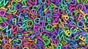 Alfabetet märker färger Arkivfoton