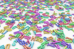 Alfabetet märker färger Arkivfoto
