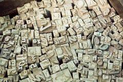 Alfabetet märker uppsättningar av den klassiska skrivmaskinen Royaltyfri Fotografi