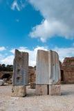 alfabetet roman carthage fördärvar Royaltyfria Bilder
